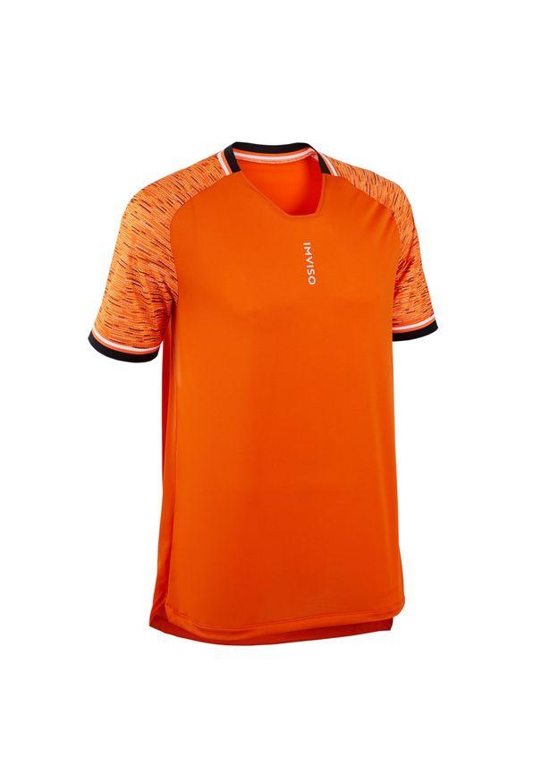 IMVISO - KOSZULKA do piłki nożnej halowej męska. Kolor: żółty, wielokolorowy, pomarańczowy. Materiał: poliester, materiał