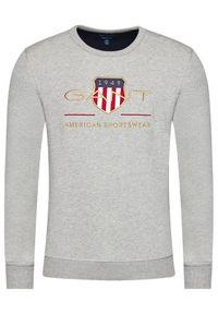 GANT - Gant Bluza Archive Shield 2046071 Szary Regular Fit. Kolor: szary