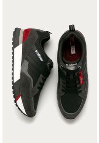 Czarne sneakersy s.Oliver na sznurówki, z cholewką