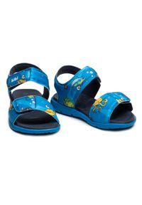 Bibi - Sandały BIBI - Basic Sandals Mini 1101087 Print/Naval. Kolor: niebieski. Materiał: materiał. Wzór: nadruk. Sezon: lato