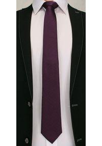 Stonowany Krawat Męski w Delikatne Grochy - Chattier- 6,7 cm - Kolorowy. Materiał: tkanina. Wzór: grochy. Styl: wizytowy