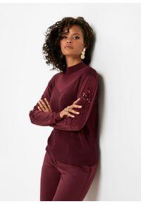 Czerwony sweter bonprix ze stójką, klasyczny