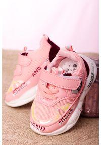 Casu - różowe buty sportowe na rzep casu 204/38m. Zapięcie: rzepy. Kolor: różowy