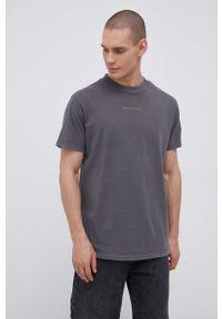 Premium by Jack&Jones - T-shirt bawełniany. Okazja: na co dzień. Kolor: szary. Materiał: bawełna. Wzór: nadruk. Styl: casual