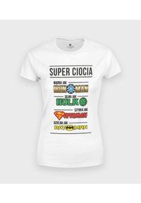 MegaKoszulki - Koszulka damska Ciocia Superbohaterka. Materiał: bawełna
