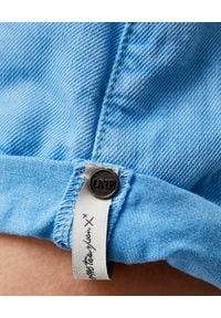 ONETEASPOON - Niebieskie spodenki Bandits. Stan: obniżony. Kolor: niebieski. Materiał: jeans. Wzór: aplikacja. Styl: klasyczny, wakacyjny