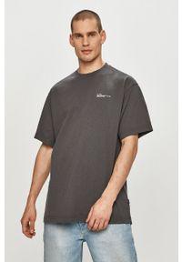 Dr. Denim - T-shirt. Kolor: szary. Materiał: denim. Wzór: nadruk