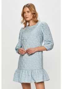 Jacqueline de Yong - Sukienka. Kolor: fioletowy. Materiał: tkanina