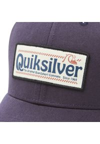 Quiksilver - Czapka z daszkiem QUIKSILVER - AQYHA04572 BYJ0. Kolor: niebieski. Materiał: poliester, materiał, bawełna