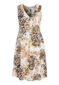 Biała sukienka mini Cellbes z dekoltem w serek, bez rękawów