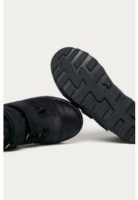 Niebieskie buty zimowe Mrugała na zimę, z cholewką