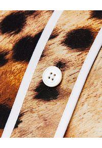 Burberry - BURBERRY - Koszula z nadrukiem zwierzęcym. Okazja: na co dzień, do pracy, na spotkanie biznesowe. Kolor: niebieski. Materiał: jedwab, bawełna. Wzór: nadruk, motyw zwierzęcy. Styl: biznesowy, klasyczny, elegancki, casual