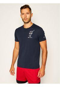 Niebieski t-shirt Champion z nadrukiem, street