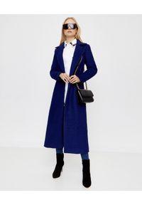 CHAOS BY MARTA BOLIGLOVA - Kobaltowy płaszcz z wiązaniem. Kolor: niebieski. Materiał: wełna