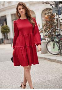 Sukienka bonprix czerwony. Kolor: czerwony