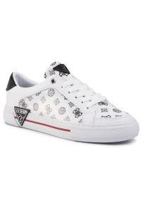 Białe buty sportowe Guess
