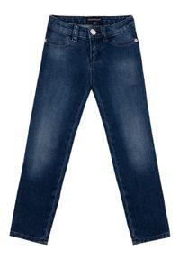 Emporio Armani Jeansy 8N3J32 3D0TZ 0941 Granatowy Slim Fit. Kolor: niebieski