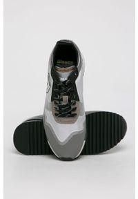 Szare buty sportowe Blauer z cholewką, na sznurówki