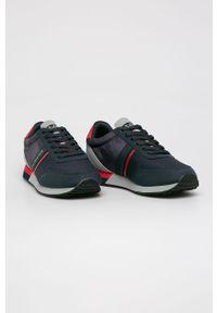 Szare sneakersy U.S. Polo Assn z okrągłym noskiem, na sznurówki