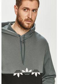 adidas Originals - Bluza bawełniana. Okazja: na co dzień. Typ kołnierza: kaptur. Kolor: szary. Materiał: bawełna. Styl: casual