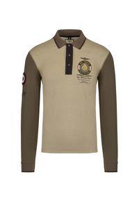 Koszulka polo Aeronautica Militare polo, z aplikacjami, elegancka