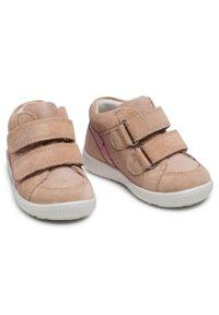 Superfit - Sneakersy SUPERFIT - 1-006434-4000 M Beige/Rosa. Kolor: beżowy. Materiał: skóra, zamsz. Szerokość cholewki: normalna. Styl: młodzieżowy