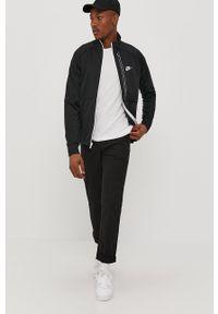 Czarna bluza rozpinana Nike Sportswear casualowa, na co dzień, bez kaptura, gładkie
