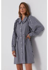Levi's® - Levi's - Sukienka bawełniana. Okazja: na spotkanie biznesowe. Kolor: niebieski. Materiał: bawełna. Typ sukienki: rozkloszowane. Styl: biznesowy