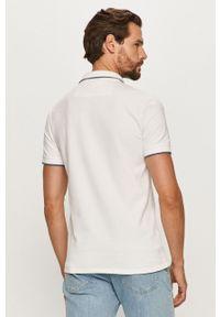 Biała koszulka polo Guess Jeans polo, krótka