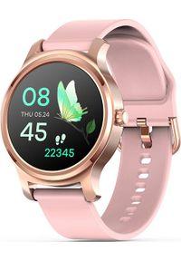 Różowy zegarek NoName smartwatch