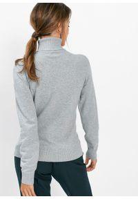 Szary sweter bonprix z długim rękawem, melanż #6