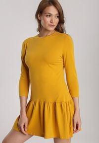 Renee - Żółta Sukienka Lamelirea. Kolor: żółty