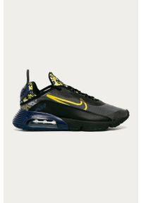 Czarne sneakersy Nike Sportswear z okrągłym noskiem, z cholewką