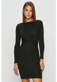 Czarna sukienka only biznesowa, z długim rękawem, mini, na spotkanie biznesowe