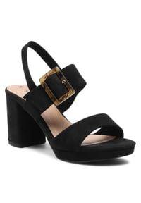 Czarne sandały s.Oliver