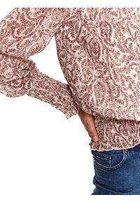 Beżowa bluzka TOP SECRET długa, z długim rękawem #5