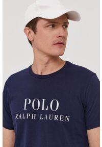 Polo Ralph Lauren - T-shirt. Okazja: na co dzień. Typ kołnierza: polo. Kolor: niebieski. Wzór: nadruk. Styl: casual
