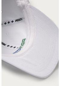 Biała czapka z daszkiem Prosto. z aplikacjami