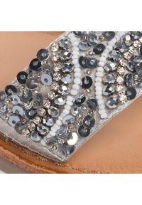 Srebrne sandały Gioseppo z aplikacjami