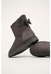 Cross Jeans - Śniegowce. Nosek buta: okrągły. Kolor: szary. Materiał: guma