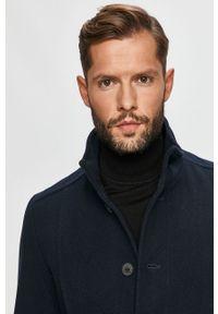 Niebieski płaszcz Selected bez kaptura, na co dzień, casualowy #6