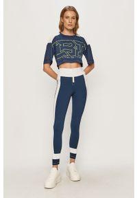 Niebieskie legginsy LABELLAMAFIA z nadrukiem