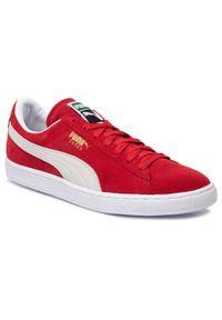Czerwone półbuty Puma klasyczne, z cholewką