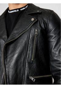 Czarna kurtka skórzana Guess