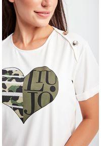 Liu Jo Sport - T-SHIRT LIU JO SPORT. Materiał: materiał. Długość rękawa: krótki rękaw. Długość: krótkie. Wzór: nadruk. Styl: sportowy