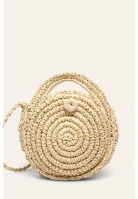 Kremowa torba plażowa ANSWEAR mała, na ramię