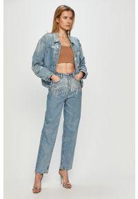 Niebieskie jeansy loose fit Miss Sixty z podwyższonym stanem, klasyczne