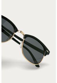 Czarne okulary przeciwsłoneczne Answear Lab owalne
