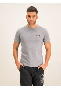 Szary t-shirt EA7 Emporio Armani
