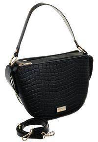 Czarna torebka Badura z tłoczeniem